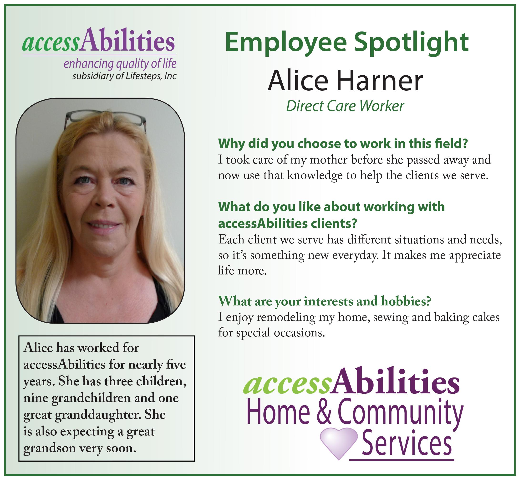 Caregiver Spotlight - Alice
